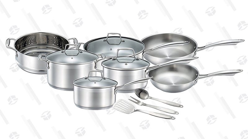Chef's Star 14-Piece Cookware Set | $100 | Amazon | Promo code XFHBKRR5