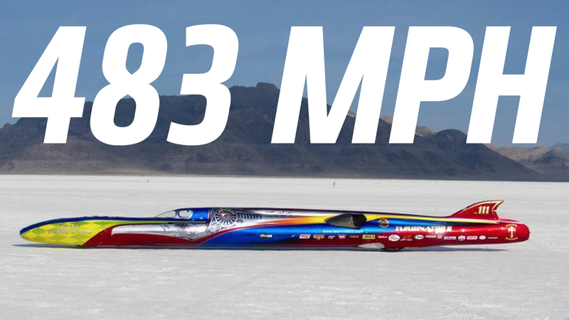 Illustration for article titled A New Wheel-Driven Speed Record Has Been Set At The Bonneville Salt Flats