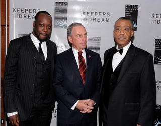 Sharpton with Wyclef Jean and New York Mayor Mike Bloomberg at NAN convention.
