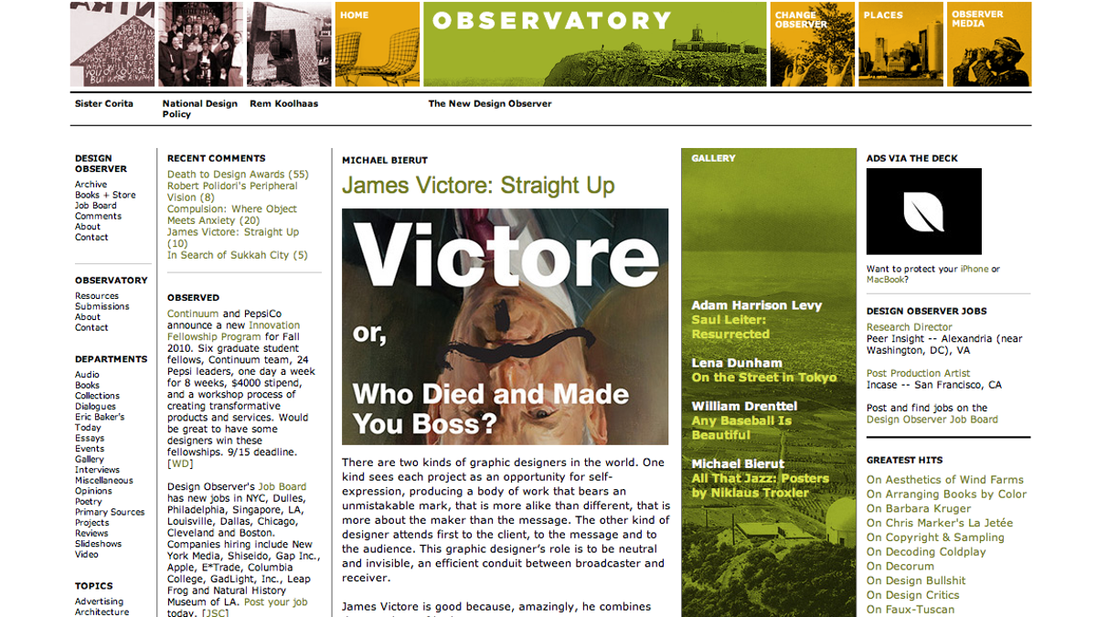 How Design Observer Founder William Drenttel Changed the