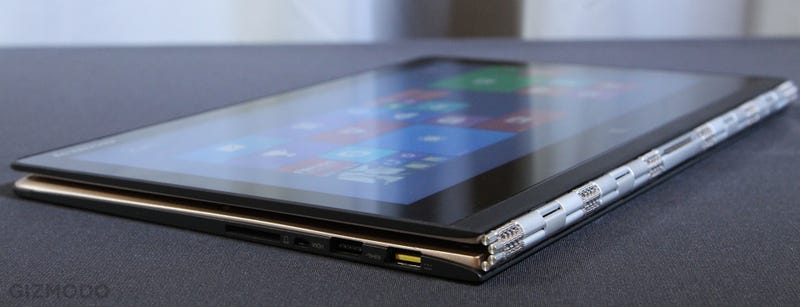 Illustration for article titled Lenovo Yoga 3 Pro: Yes, The Hinge is a Giant Watchband