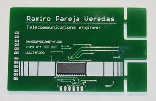 Illustration for article titled Circuit Board Business Card Is the Business Card Endgame