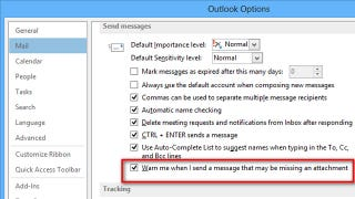 Illustration for article titled Get Reminders for Missing Attachments in Outlook 2013