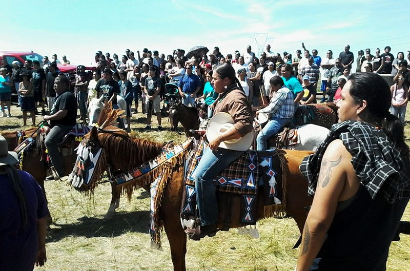 Protectors at Standing Rock in Cannon Ball, N.D., protesting the Dakota Access PipelineTwitter