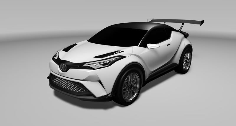 Illustration for article titled Toyota Will Race Its Puppy-Looking C-HR Crossover At The Nürburgring