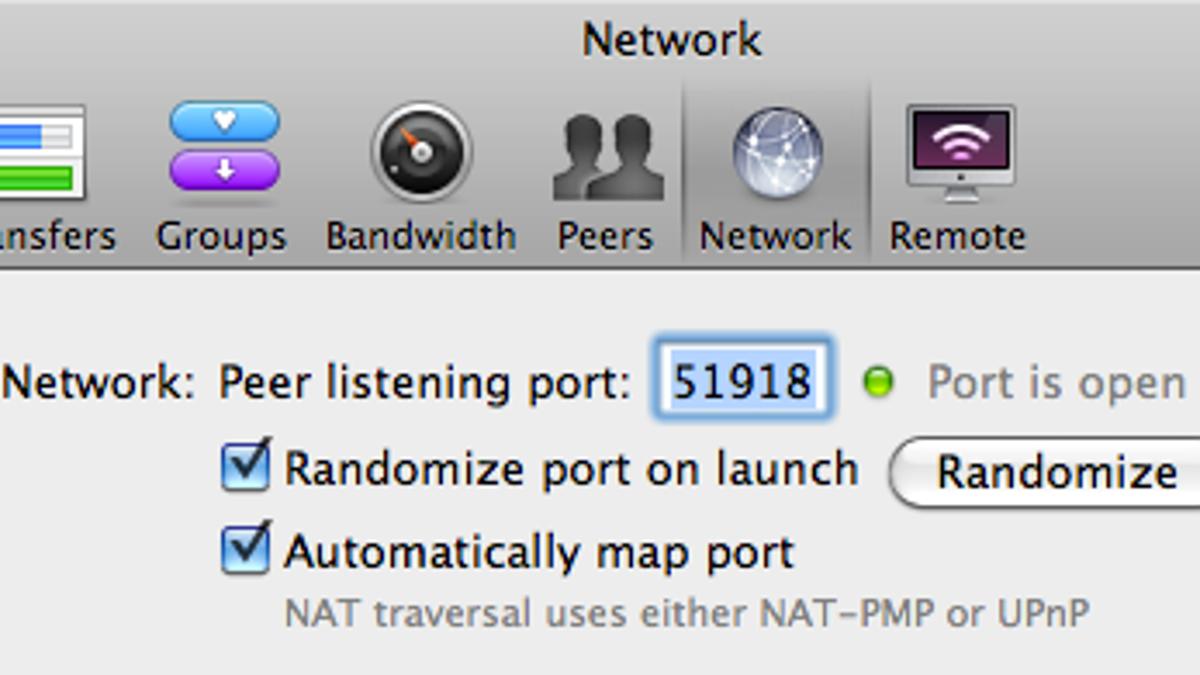 bittorrent port forwarding settings