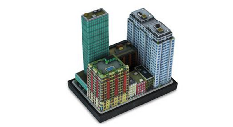 Illustration for article titled 3D-Printed Miniature Buildings Let You Play Sim City Offline