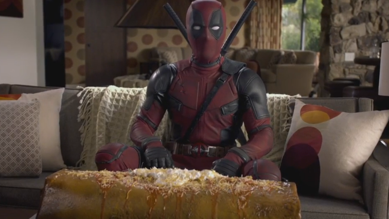 Illustration for article titled Here Is Ryan Reynolds With a Giant Chimichanga for Deadpool