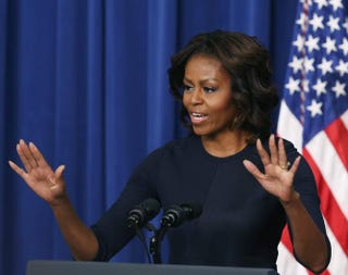 First lady Michelle Obama speaks about college opportunities during an event in the Eisenhower Executive Office building Jan. 16, 2014, in Washington, D.C.Mark Wilson/Getty Images