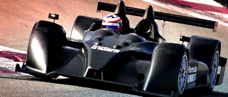 Illustration for article titled Corvette-Engined Formula Le Mans LMP2 Racer Makes Angry Noises