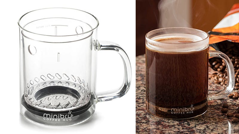 french press mug brews a perfect single serving of coffee. Black Bedroom Furniture Sets. Home Design Ideas
