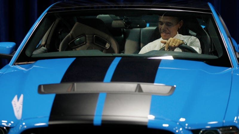 """Illustration for article titled Barack Obama Thinks The Shelby GT500 Is """"Sick"""""""