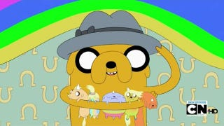 Illustration for article titled Jake the Dog becomes Jake the Dad on Adventure Time