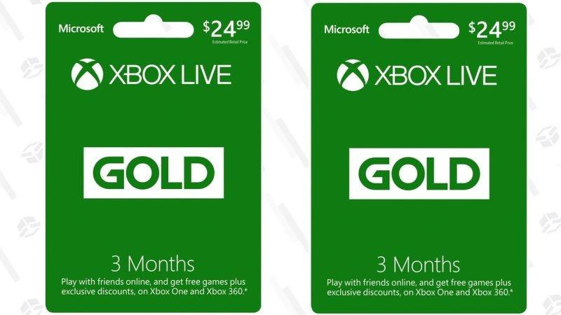 3 meses de Xbox Live Gold   $25   Amazon   Más tres meses extraGráfico: Shep McAllister