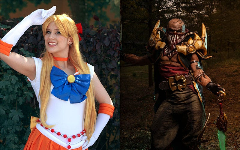 Livanart as Sailor Venus (left) and Pyke (right)