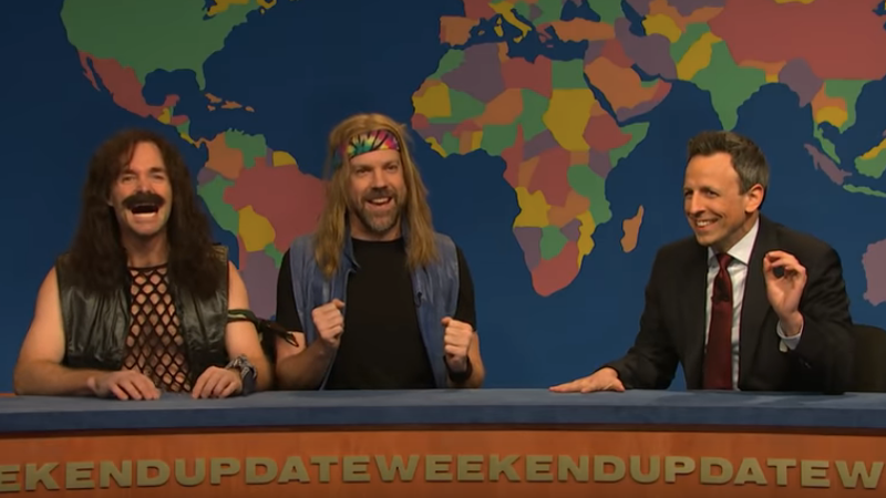 Seth Meyers Lets Jason Sudeikis And Will Forte Settle Old Snl Scores