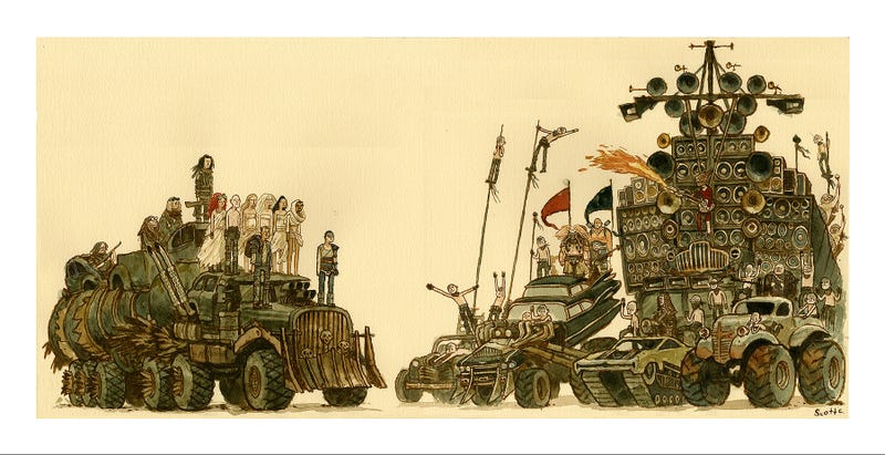 Illustration for article titled Get This Mindblowing Mad Max: Fury Road Poster Right Now