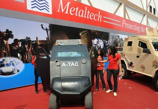 Illustration for article titled ATAC Armored Golf Cart: Prototype Photos
