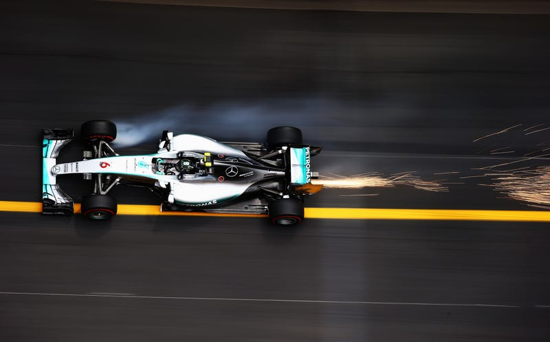 Illustration for article titled Neat picture of the W06 at Monaco