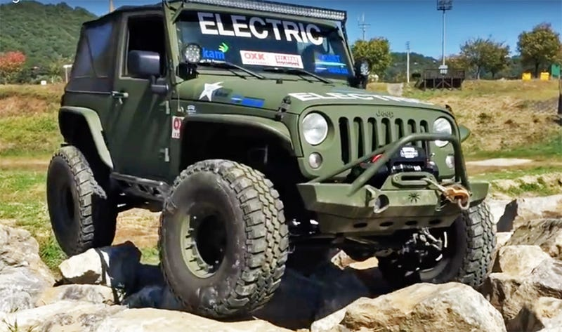 Watch These Electric Jeep Wranglers Put Gas And Diesel