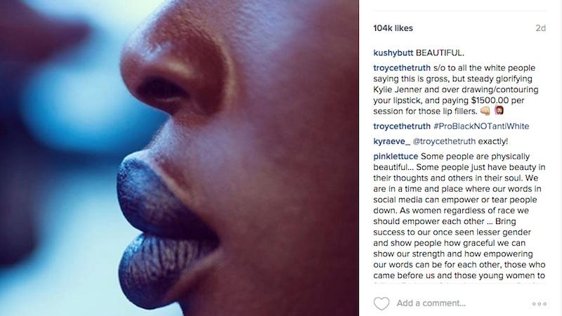 Illustration for article titled MAC Instagram Account Flooded with Racist Trolls After They Shared a Photo of a Black Woman's Lips