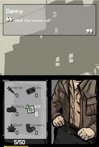 Illustration for article titled GTA DS Lets You Buy And Sell Weed...And Heroin...And...