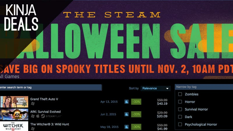 Illustration for article titled Today's Best Gaming Deals: Steam Halloween Sale, Xbox Live Gold, and More