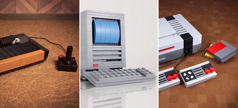 Illustration for article titled 7 Iconic Computers and Consoles Reborn As Lego Microscales