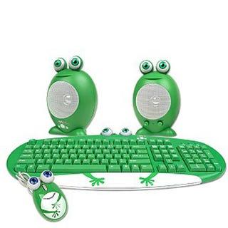 Illustration for article titled Keyboard/Mouse/Speaker Set - Frog Family