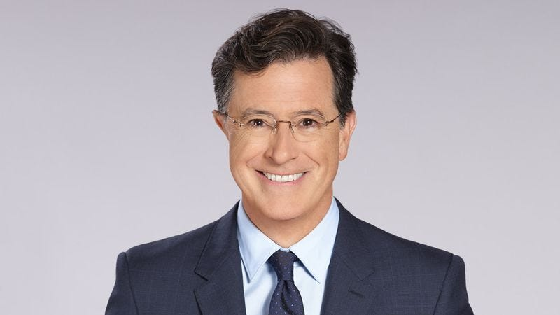"""Illustration for article titled Say one last goodbye to """"Stephen Colbert"""" and say hello to The Late Show With Stephen Colbert"""