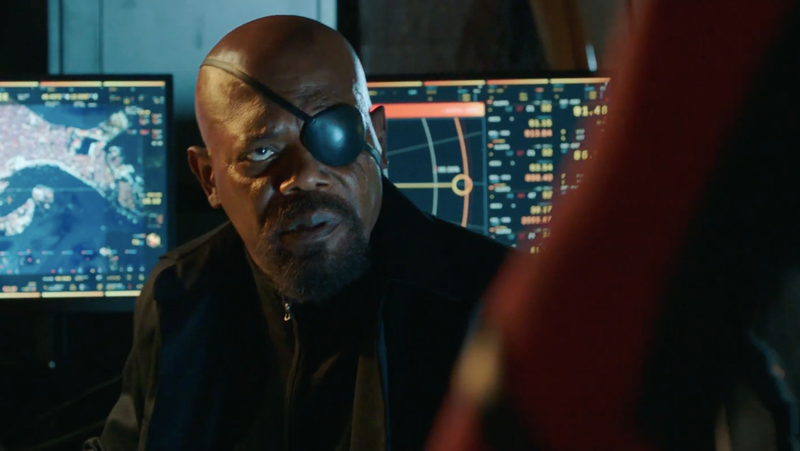 Nick Fury in Spider-Man: Far From Home.