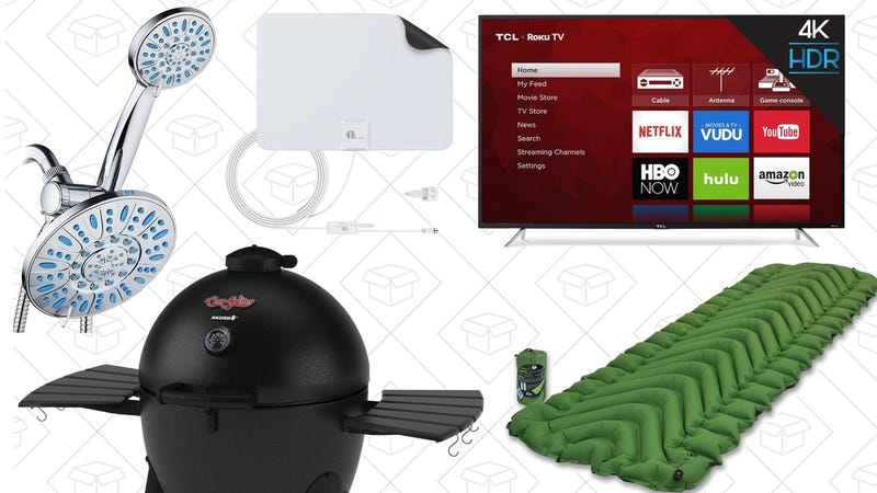 "Illustration for article titled Saturday's Best Deals: 65"" 4K TV, Shower Heads, Kamado Grill, and More"