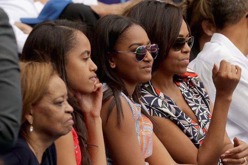Marian Robinson, Malia Obama, Sasha Obama and Michelle Obama (Chip Somodevilla/Getty Images)