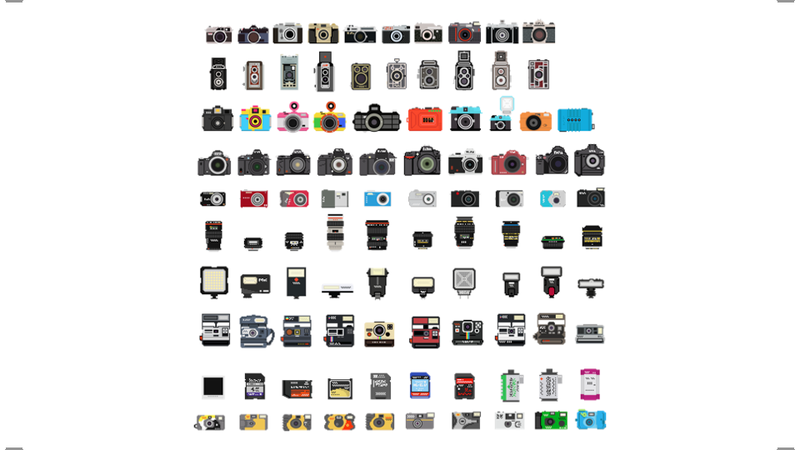 Illustration for article titled A Pixelated History of Cameras
