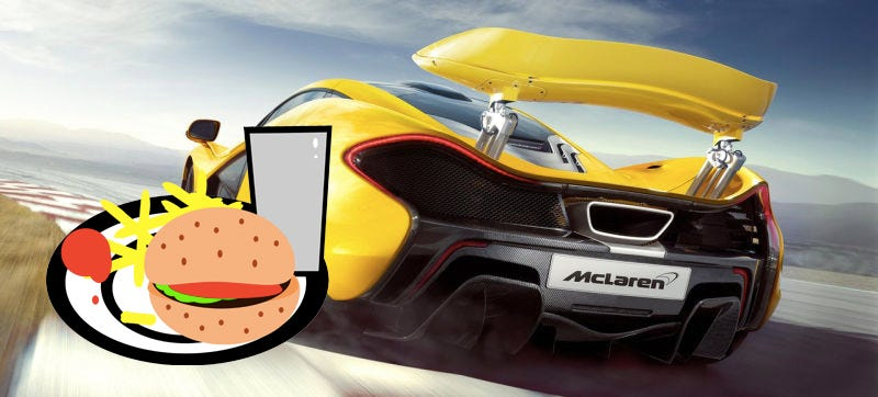 Photo Credit: McLaren, PeterBrough/OpenClipArt. Delicious mashup by Andrew Collins/Jalopnik