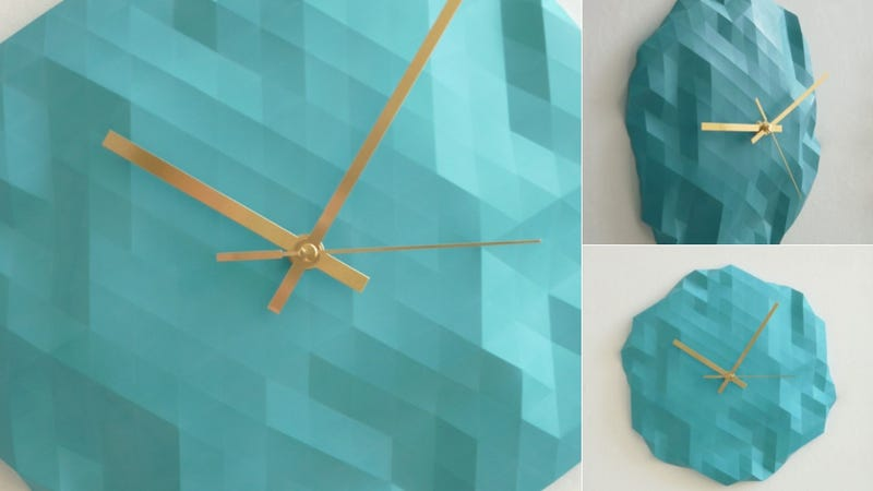 Illustration for article titled Origami-Inspired Clocks So Attention-Grabbing, You'll Never Run Late