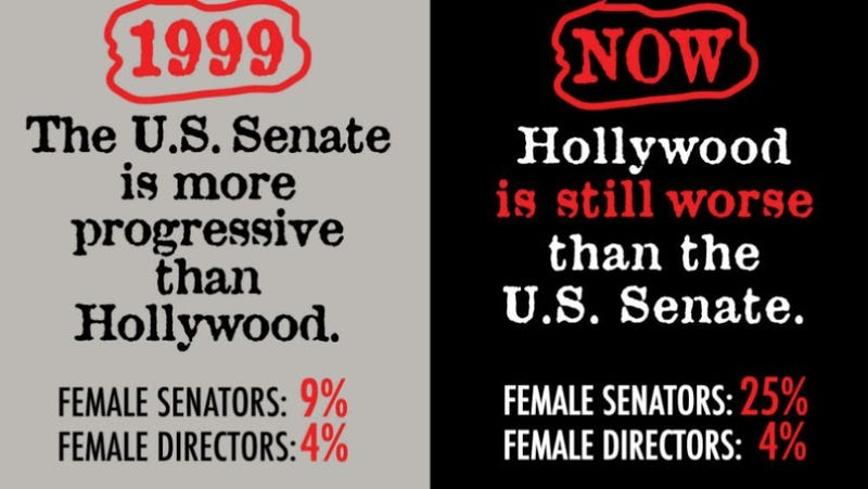 Illustration for article titled Guerrilla Girls Are Back to Remind You the U.S. Senate Is More Progressive Than Hollywood