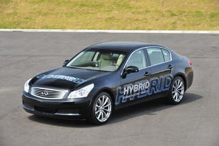 Illustration for article titled Nissan Reveals Hybrid G35 Prototype, All-Electric System, Upgraded Fuel Cell Stack