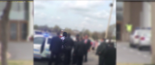 Footage shows Marcus Donald being escorted away by police from Bellevue Baptist Church property in Memphis, Tenn., on March 27, 2016.Fox 13 screenshot