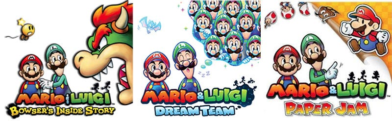 Illustration for article titled The Mario & Luigi Series' Super Cool Box Art Captures More Than Just Fun