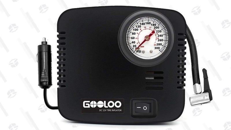 Gooloo Mini Air Compressor | $8 | Amazon | Promo code H5YOICAD