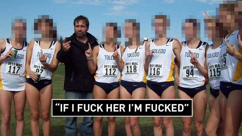 """Illustration for article titled """"I'm Down For Drinks, Laughs, Sex"""": The Sexual Harassment Claims That Brought Down Toledo's Running Coach"""