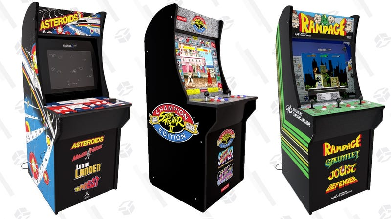 Reserva Rampage/Gauntlet/Joust/Defender Arcade1Up | $299 | WalmartReserva Asteroids/Major Havoc/Lunar Lander/Tempest Arcade1Up | $299 | WalmartReserva Centipede/Millipede/Missile Command/Crystal Castles Arcade1Up | $299 | WalmartReserva Street Fighter ll Champion Edition/Street Fighter ll The New Challengers/Street Fighter ll Turbo Arcade1Up| $299 | Walmart