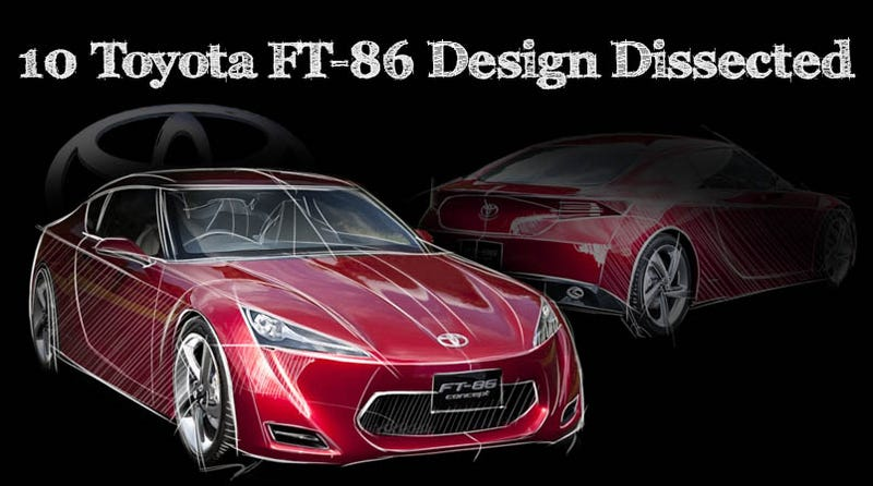 Illustration for article titled Toyota FT-86 Concept: Design, Dissected