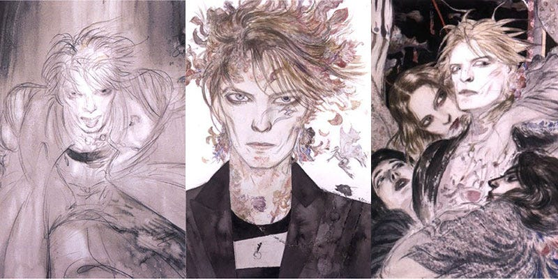 Illustration for article titled When A Final Fantasy Artist (And Neil Gaiman) Did Sci-Fi David Bowie