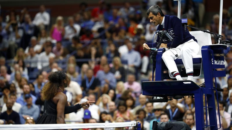 Illustration for article titled Sensitive Ref Pushes Serena Williams To Melt Down And Ruins Naomi Osaka's U.S. Open Victory