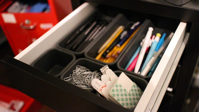 Illustration for article titled Made Smart Interlocking Storage Bins Can Organize Any Drawer in a Snap