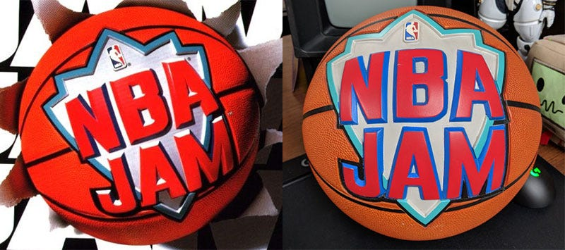 Illustration for article titled Here's The Actual Basketball From The Cover Of NBA Jam