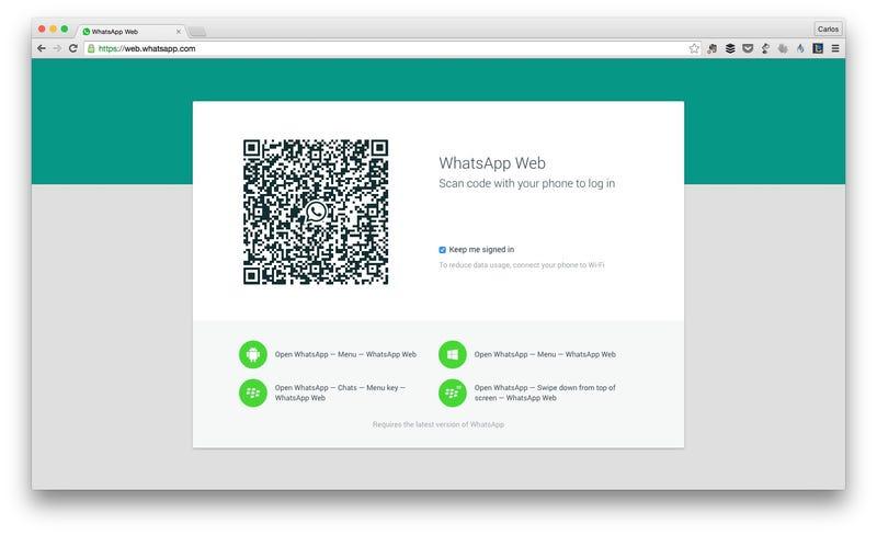 Illustration for article titled La versión web de WhatsApp ya está disponible