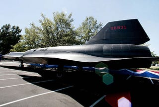 Illustration for article titled Secret A-12 Spy Plane Officially Unveiled at CIA's Headquarters, No X-Men Found Inside
